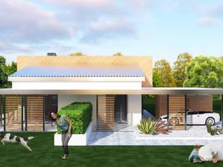 VILLA MODERNA UDINE: Casa passiva in stile  di ABITAlab S.r.l.,