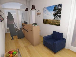 Decoração de interiores de Entrada / Recepção de Guest House em Grândola por R&U ATELIER LDA