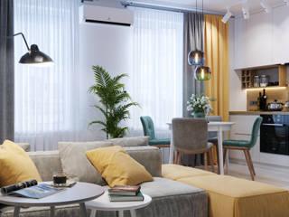 Phòng khách theo Goroh бюро, Hiện đại