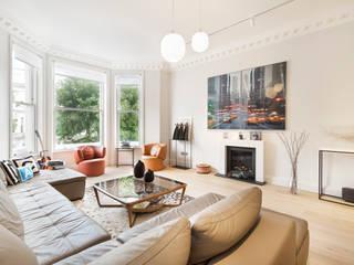 Holland Park Salones de estilo minimalista de Ugne Pouwell Minimalista
