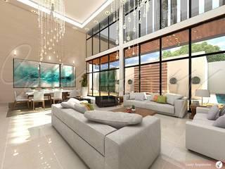 Proyectos habitacionales Salones modernos de GARAY ARQUITECTOS Moderno