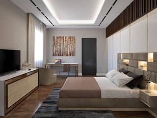 Libya Villa -3 Modern Yatak Odası homify Modern İşlenmiş Ahşap Şeffaf
