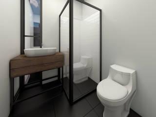 RESIDENCIAL KOATL Baños minimalistas de G._ALARQ. Minimalista