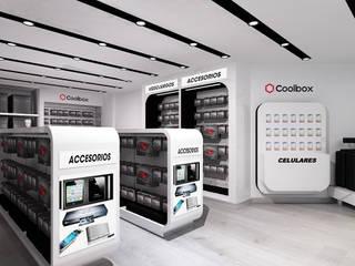 """Concept Store """"Coolbox"""" - Aeropuerto Jorge Chavéz.: Espacios comerciales de estilo  por Jorge Levano,"""