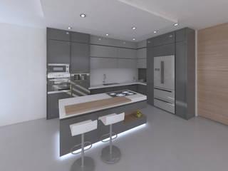 Casa capri, cali: Cocinas de estilo  por Am arquitectura, Minimalista