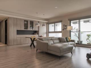 沁白 现代客厅設計點子、靈感 & 圖片 根據 詩賦室內設計 現代風
