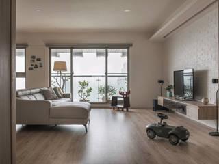 Living room by 詩賦室內設計, Modern