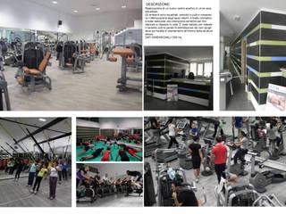 Realizzazione Centro sportivo: Spazi commerciali in stile  di TURCHIANO ARCHITETTI - architecture and design,