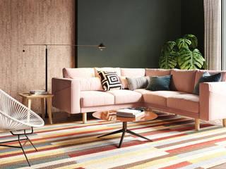 Salon coloré Murs & Sols modernes par Go4cork Moderne Liège
