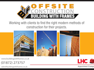 Casas de madera de estilo  de Building With Frames, Moderno