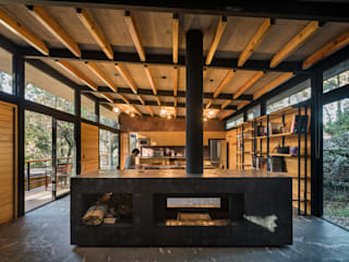 Saavedra Arquitectos Living room Solid Wood Wood effect