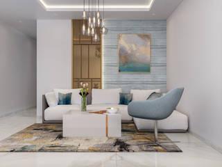Family Living Modern Living Room by De Panache - Interior Architects Modern