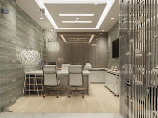 Home Office Modern Study Room and Home Office by De Panache - Interior Architects Modern