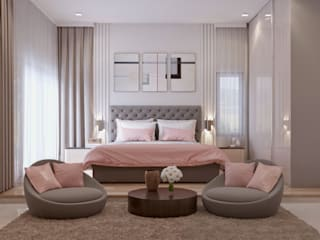Master Bedroom Modern Bedroom by De Panache - Interior Architects Modern