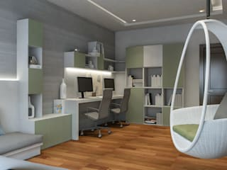 Study Room Modern Study Room and Home Office by De Panache - Interior Architects Modern