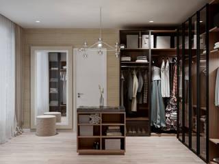 Walk in Wardrobe Modern Dressing Room by De Panache - Interior Architects Modern
