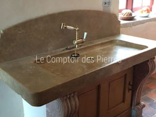 LE COMPTOIR DES PIERRES KitchenSinks & taps Stone Beige
