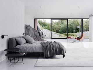 Dom w skale od Artur Adamczyk - Wizualizacje architektoniczne
