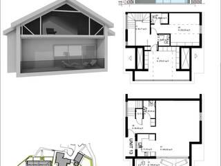 Casas em madeira (Inglaterra):   por sjjotarquitectura,Moderno