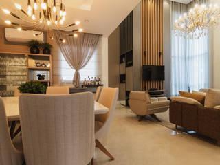 Residência AZG: Salas de estar  por Ismael Valério Arquitetura e Interiores,