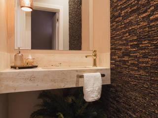 Residência AZG: Banheiros  por Ismael Valério Arquitetura e Interiores,