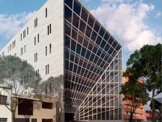 GM PERSPECITIVE: Oficinas y tiendas de estilo  por IDEA Taller de Arquitectura, Moderno