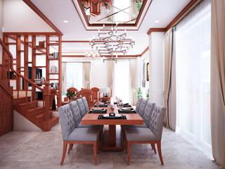 Xây dựng và thiết kế nội thất biệt thự cao cấp chú Phong dự án Lakeview Quận 9 Phòng khách phong cách châu Á bởi TNHH xây dựng và thiết kế nội thất AN PHÚ CONs 0911.120.739 Châu Á