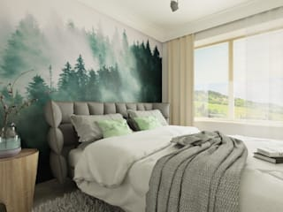 Bedroom by Chrobotek Design, Scandinavian