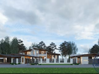 Maisons originales par Компания архитекторов Латышевых 'Мечты сбываются' Éclectique