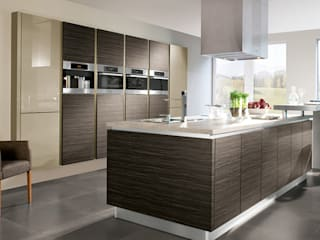 Melawood 2mm impact kitchen with quartz tops ATLAS KITCHENS Kitchen units MDF Brown