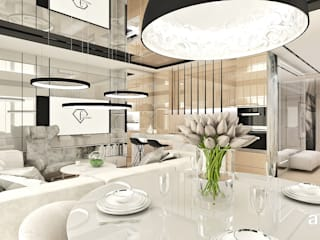 Salas / recibidores de estilo  por ARTDESIGN architektura wnętrz, Moderno