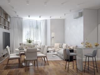 «Студия 3.14» Minimalist living room