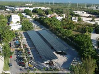 Central Solar Fotovoltaica Anáhuac Espacios comerciales de estilo industrial de FOTONA Industrial