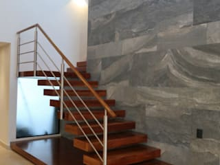 CASA RN: Escaleras de estilo  por DIMARQ® espacios arquitectónicos ,