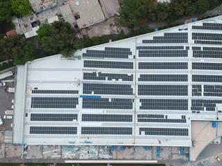 Central Solar Fotovoltaica Cruz Azul (centro comercial) Centros comerciales de estilo industrial de FOTONA Industrial