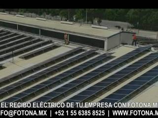 Central Solar Fotovoltaica Cruz Azul (fábrica de sacos) Espacios comerciales de estilo industrial de FOTONA Industrial