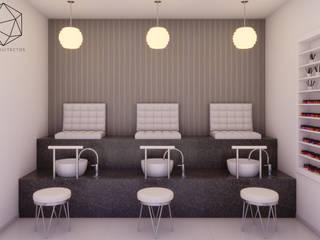 Visualización Arquitectónica: R20 Arquitectos Spa modernos de R20 Arquitectos Moderno