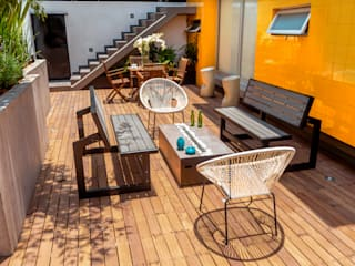 Industrial style balcony, veranda & terrace by AMID Industrial