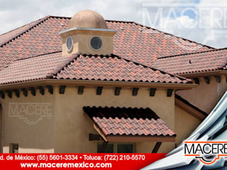 Hipped roof by MACERE México, Rustic