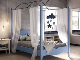 Mobili a Colori Teen bedroom Solid Wood Turquoise