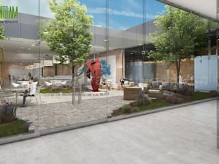 Modern Large Office Interior & Exterior Design Ideas by Walkthrough Architectural Design Studio, Dublin – Ireland Yantram Architectural Design Studio Modern