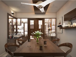 Monnaie Interiors Pvt Ltd Modern dining room Engineered Wood Wood effect