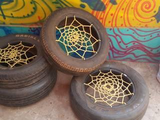 Melke On The Road – Eski lastiklerden oturak yapımı:  tarz ,
