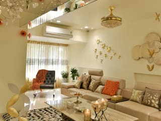 site at worli (mumbai) Modern living room by Mybeautifulife Modern