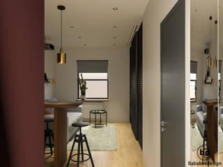 Scandinavian style corridor, hallway& stairs by Babakovdesign Scandinavian