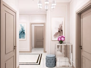 Classic style corridor, hallway and stairs by Дизайн студия 'Хороший интерьер' Classic