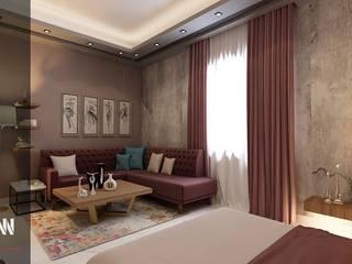 غرفة باللون الكاشميري : حديث  تنفيذ AKYAN, حداثي