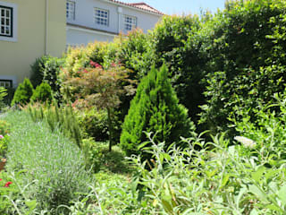 Bairro Alto, um espaço urbano: Jardins  por Maria Mayer | Interior & Landscape Design,