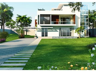 3D architectural designs Modern houses by ThePro3DStudio Modern
