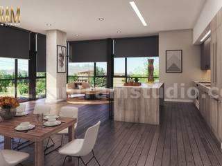 Matt Living kitchen Style Decorating Concept of Interior Designers by 3D Architectural Design, Cape Town - South Africa Yantram Architectural Design Studio Klasik